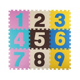 Piso en Foami Números Mod 2, 9 piezas 30x30