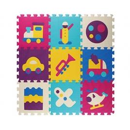 Piso en Foami Figuras 9 piezas 30x30