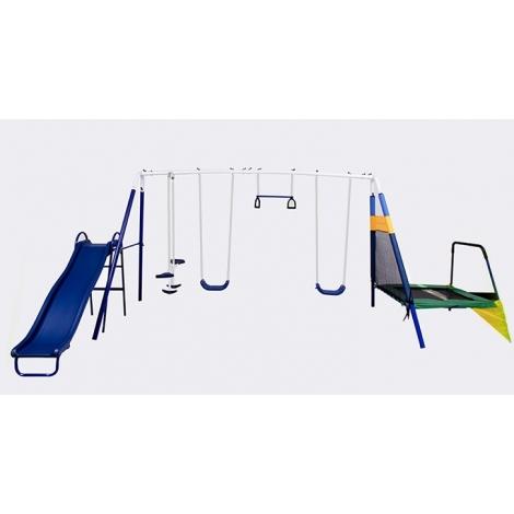Columpio 6 estaciones con trampolin