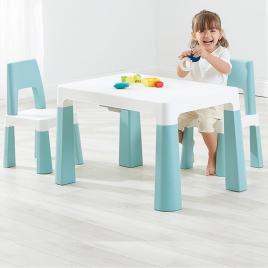 Set de Mesa Infantil y Sillas Azul