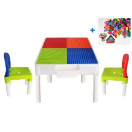 Mesa de Construccion 2 en 1 con bloques 78 piezas