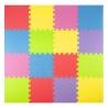 Tapete de foami colores varios 16 piezas